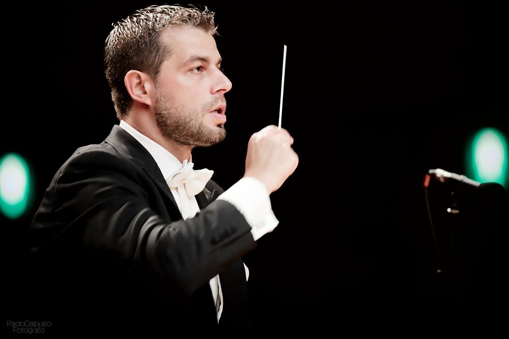 il M Bignamini dirige laVerdi con Andrey Baranov al violino e Andrea Griminelli al flauto 17 set 2015 foto Paolo Dalprato34