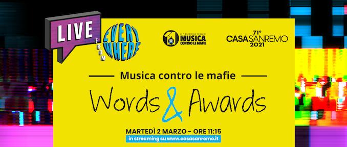 MUSICA CONTRO LE MAFIE A SANREMO 2021  Premia i vincitori della 11^Edizione